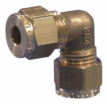 "Gas Connector Fitting 8mm (5/16"") Equal Elbow"